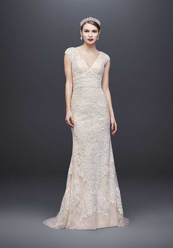 Oleg Cassini at David's Bridal Oleg Cassini Style CWG807 Sheath Wedding Dress
