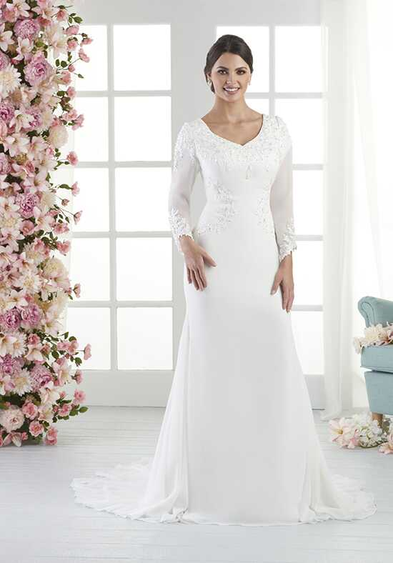 Bliss by Bonny Bridal 2802 Sheath Wedding Dress