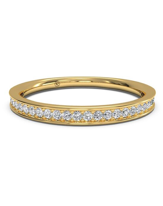 Ritani Women's Micropave Diamond Wedding Band - in 18kt Yellow Gold (0.15 CTW) Gold Wedding Ring