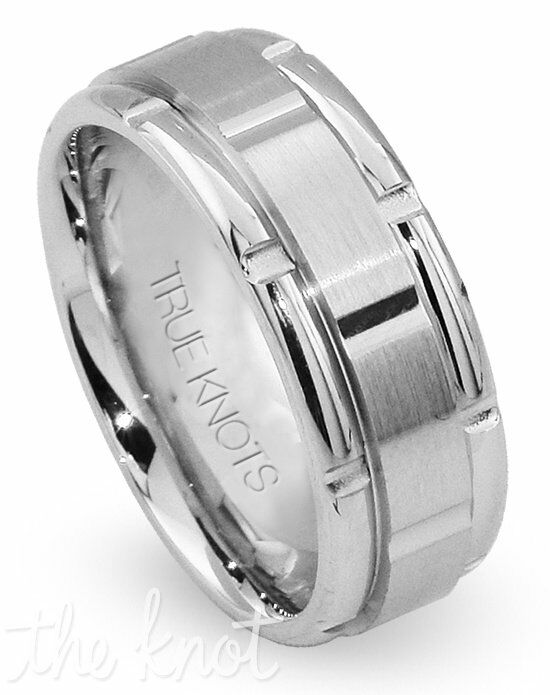 TRUE KNOTS TRUE MAN - 502-DCW Palladium, Platinum, White Gold Wedding Ring