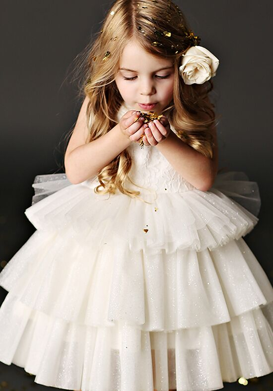 FATTIEPIE Nicole Ivory Flower Girl Dress