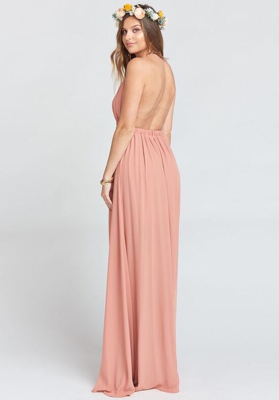 Show Me Your Mumu Luna Halter Dress - Rustic Mauve Crisp Halter Bridesmaid Dress