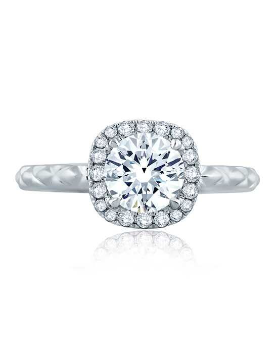 A.JAFFE Glamorous Cushion Cut Engagement Ring