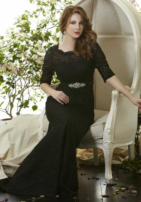 Saison Blanche Social Occasion 6064 Black Mother Of The Bride Dress