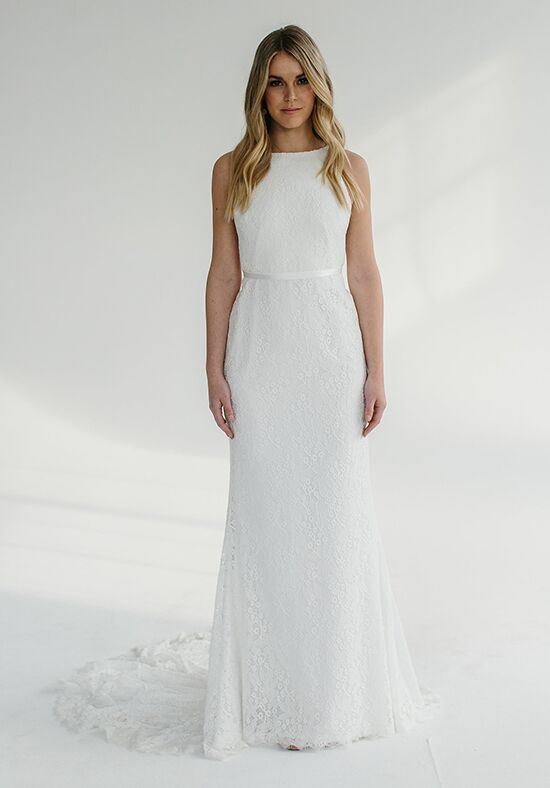 KAREN WILLIS HOLMES Kristy Sheath Wedding Dress