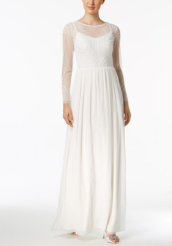 Adrianna Papell Wedding Dresses Adrianna Papell Beaded Illusion Gown A-Line Wedding Dress