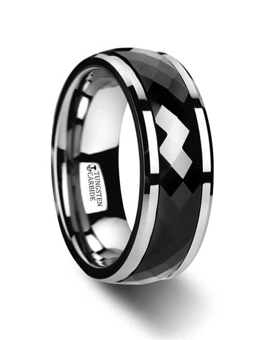 Mens Tungsten Wedding Bands W3080-BCSR Tungsten Wedding Ring