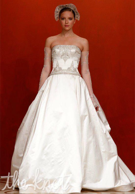 Reem Acra 4431 - Gone With the Wind Wedding Dress - The Knot