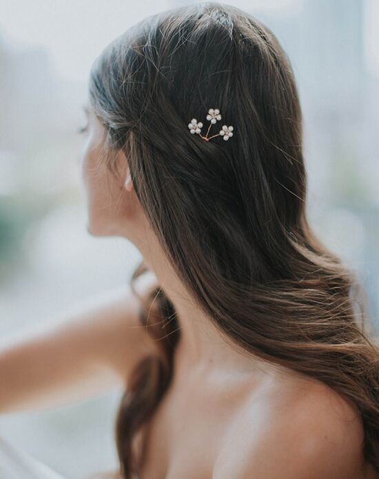 Davie & Chiyo | Hair Accessories & Veils Daisy Hairpin Gold, Ivory, Silver Pins, Combs + Clip
