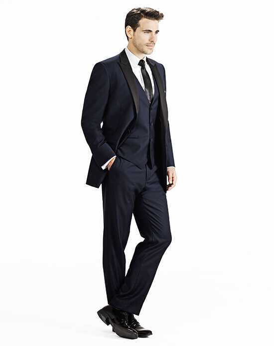 Generation Tux Midnight Blue Peak Lapel Tux Black, Blue Tuxedo