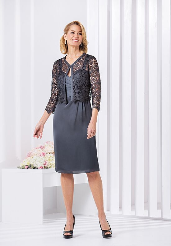 Jasmine Black Label M180054 Grey Mother Of The Bride Dress