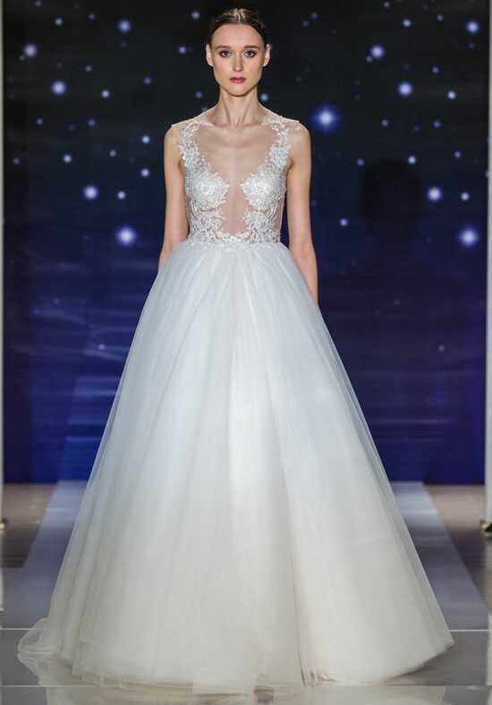 Reem Acra She's Over the Moon Ball Gown Wedding Dress