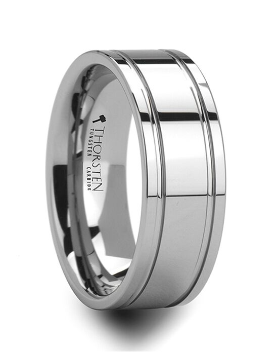 Mens Tungsten Wedding Bands W236-POG Tungsten Wedding Ring