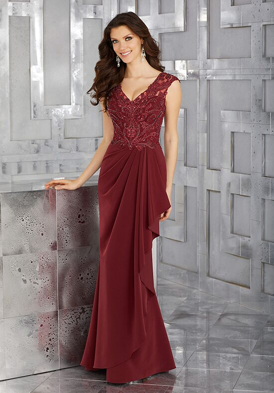 MGNY 71617 Brown Mother Of The Bride Dress