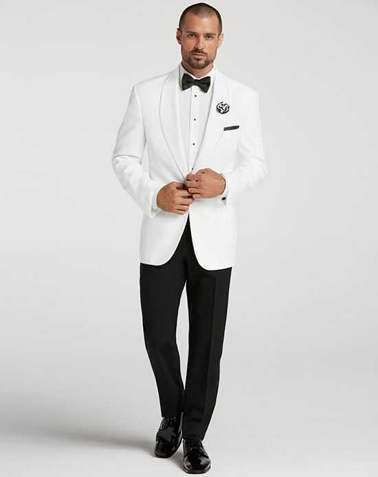Men's Wearhouse Joseph & Feiss White Dinner Jacket White Tuxedo