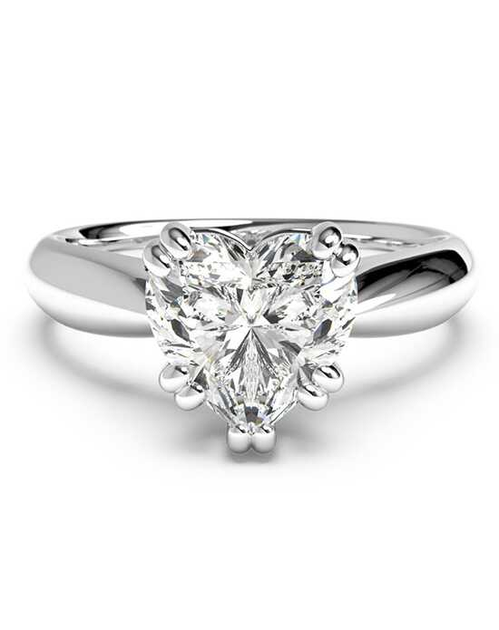 ritani solitaire diamond tulip cathedral engagement ring - Heart Shaped Wedding Rings