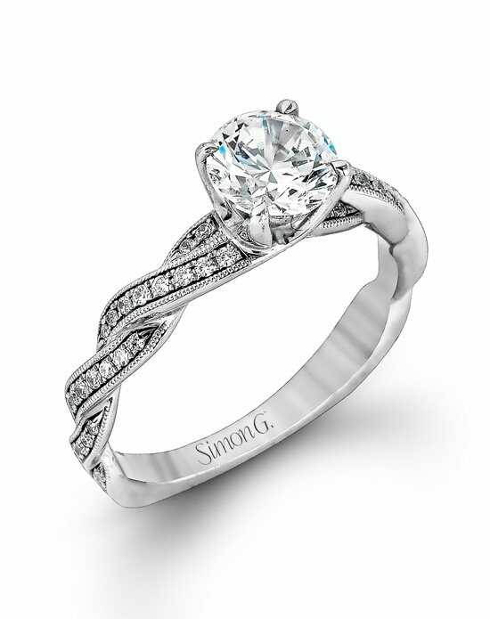 Simon G. Jewelry MR1498 Engagement Ring photo