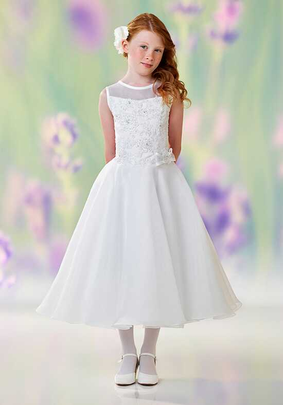 Joan Calabrese by Mon Cheri 118316 White Flower Girl Dress