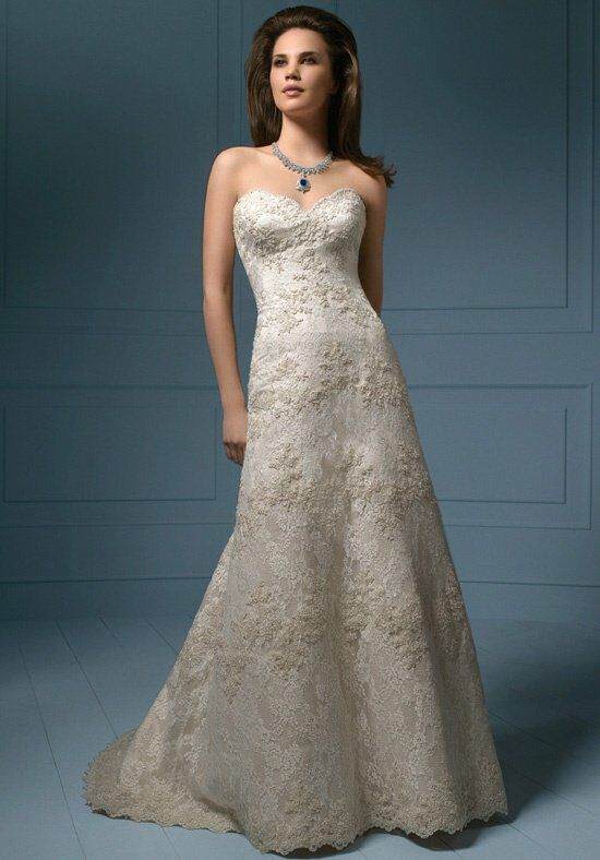 Alfred Angelo Sapphire Bridal Collection 801NB/801CNB A-Line Wedding Dress