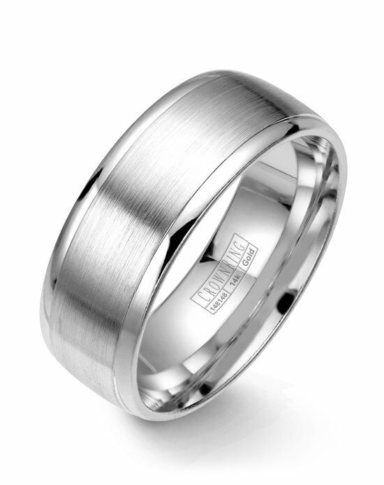 CrownRing WB-7023-M10 White Gold Wedding Ring