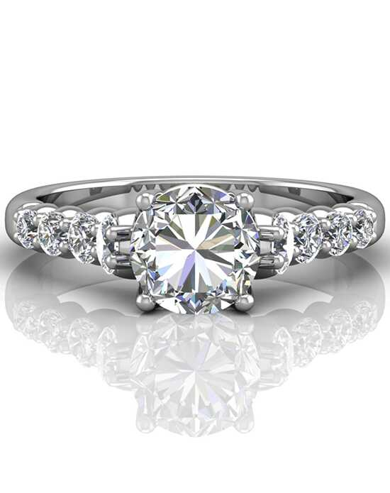 FlyerFit by Martin Flyer Elegant Round Cut Engagement Ring
