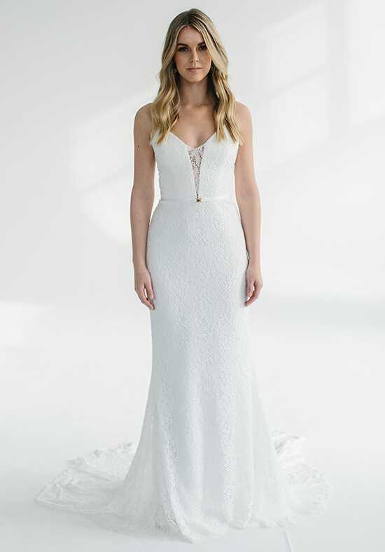 KAREN WILLIS HOLMES Savannah Sheath Wedding Dress