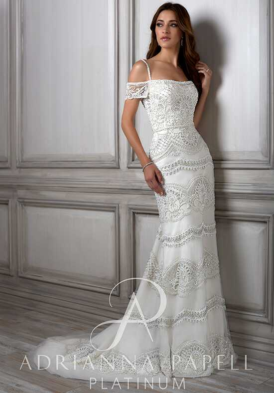 Adrianna Papell Platinum Viola Sheath Wedding Dress