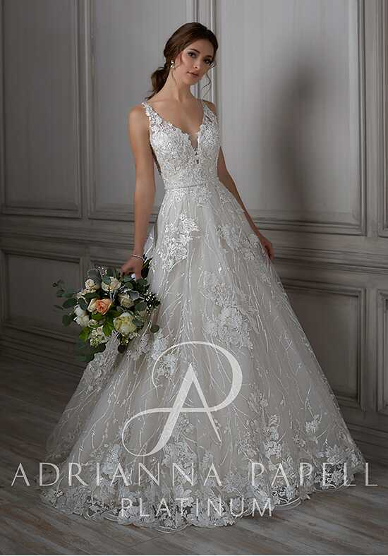 Adrianna Papell Platinum Louisa A-Line Wedding Dress
