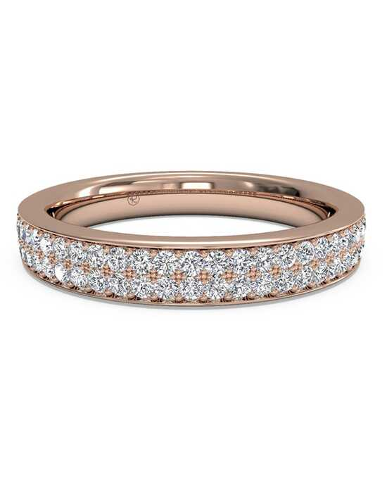 Ritani Women's Double Micropave Diamond Wedding Band - in 18kt Rose Gold (0.25 CTW) Rose Gold Wedding Ring