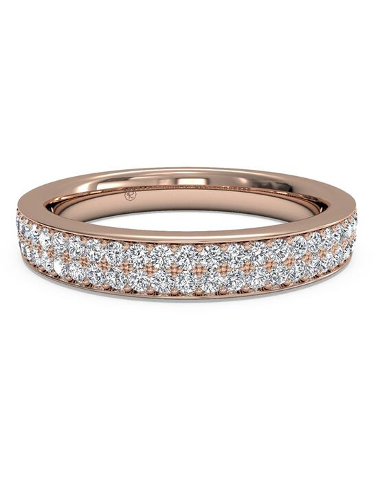 Ritani. Womenu0027s Double Micropave Diamond Wedding Band ...