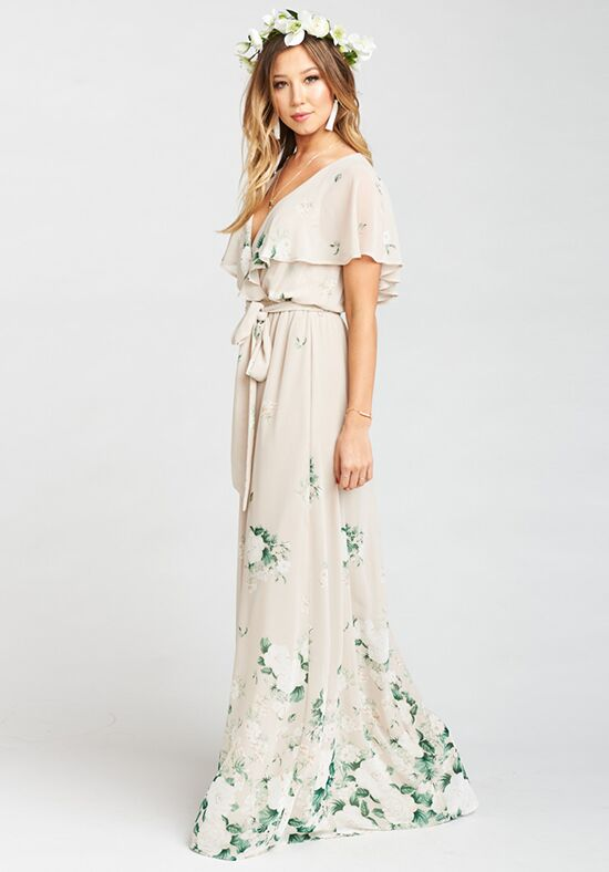 Show Me Your Mumu Audrey Maxi Dress - Bouquet Toss V-Neck Bridesmaid Dress