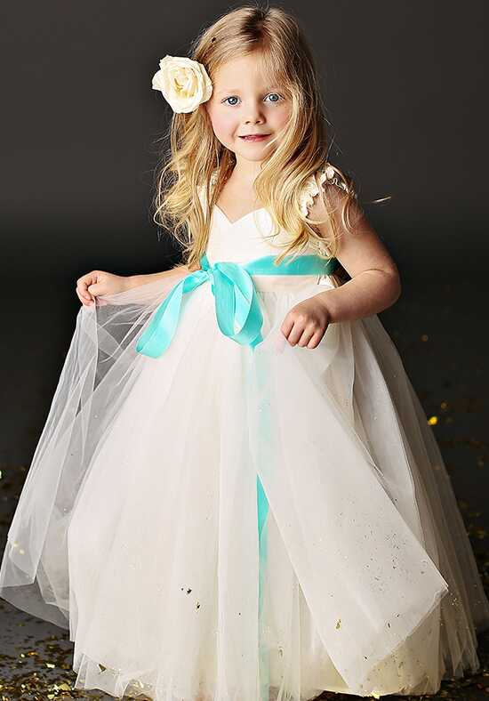 FATTIEPIE Grace Ankle Ivory Flower Girl Dress