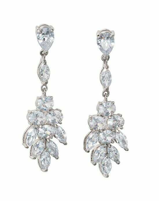 Anna Bellagio MISCHA ROMANTIC CUBIC ZIRCONIA BRIDAL DROP EARRING Wedding Earring photo