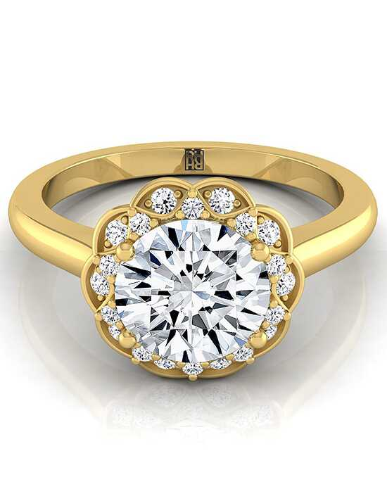 RockHer Vintage Round Cut Engagement Ring
