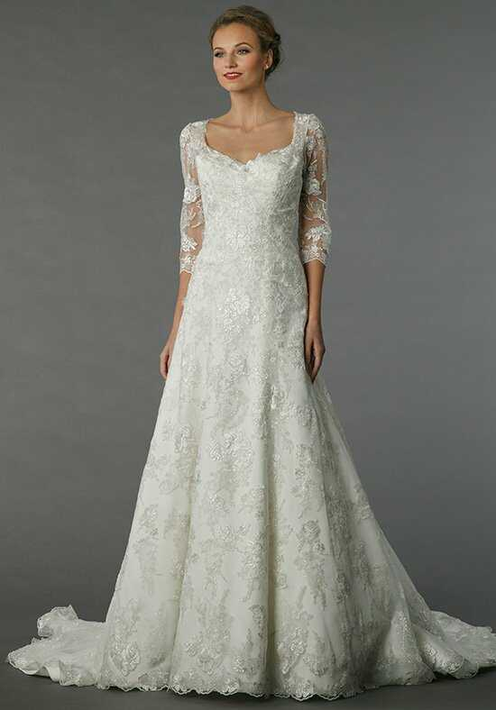 a line chiffon wedding dress. alita graham a line chiffon wedding dress h