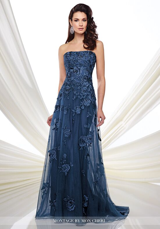 Montage by Mon Cheri 216976 Blue Mother Of The Bride Dress