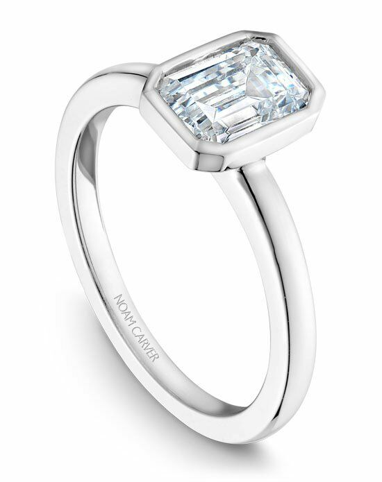 Noam Carver Unique Emerald Cut Engagement Ring