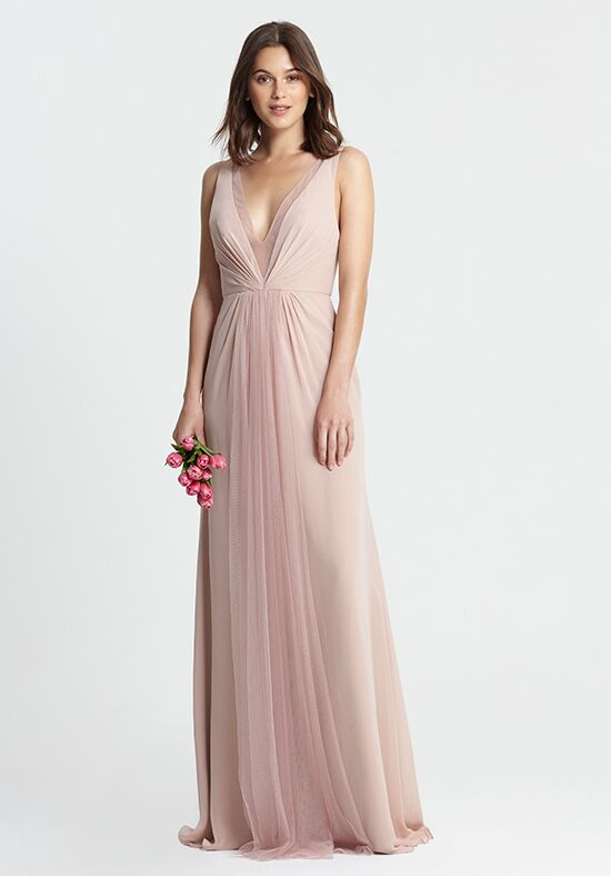 Monique Lhuillier Bridesmaids 450381 V-Neck Bridesmaid Dress