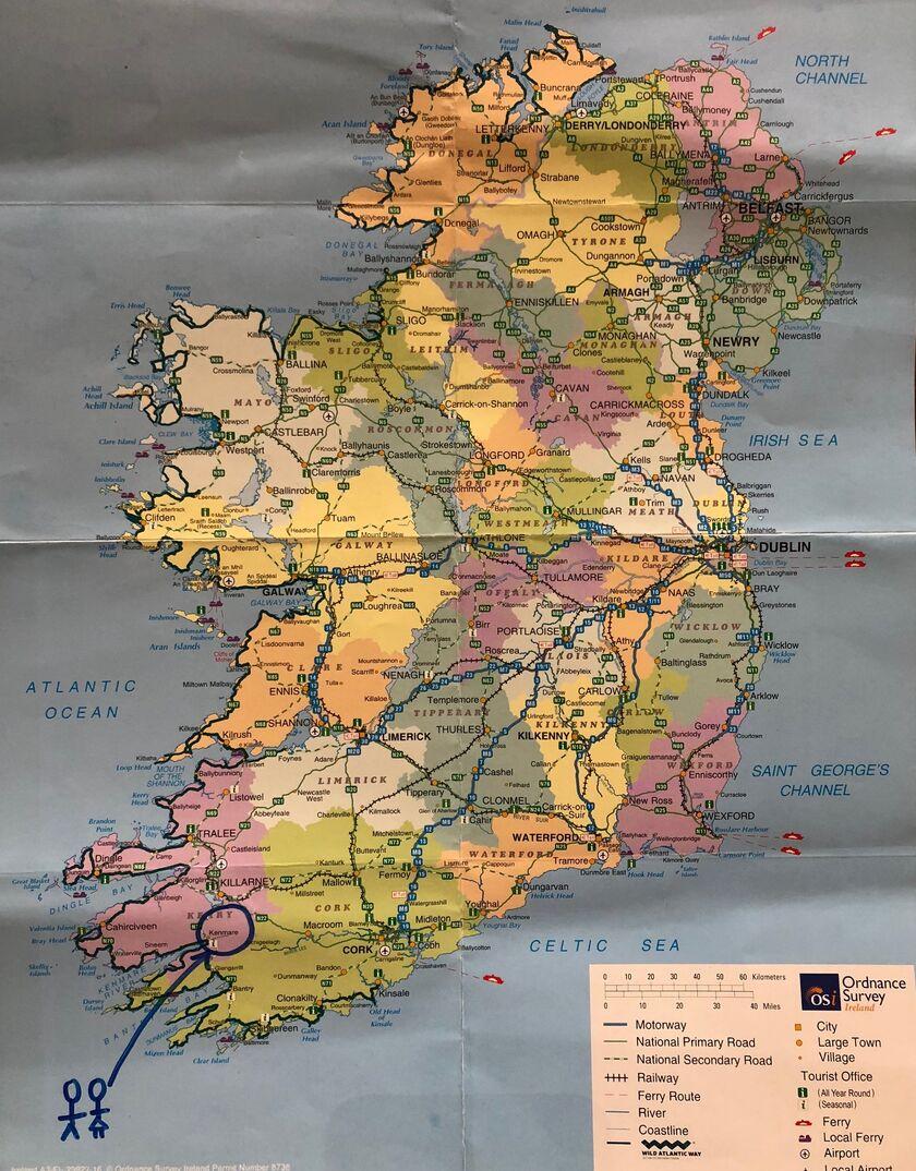 Map Of Ireland Kenmare.Lauren Callaghan And Kieran James S Wedding Website