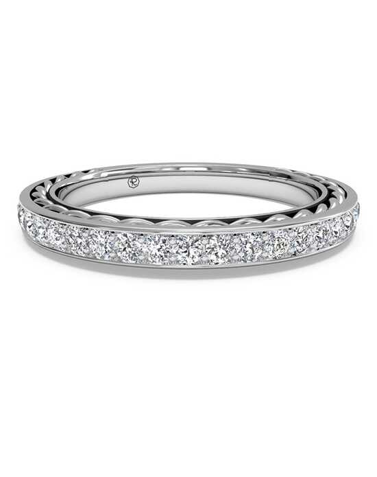 Ritani Women's Micropave Diamond Braided Wedding Ring - in 14kt White Gold - (0.32 CTW) White Gold Wedding Ring