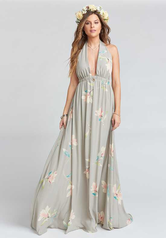 Show Me Your Mumu Luna Halter Dress - Lily Showers Halter Bridesmaid Dress
