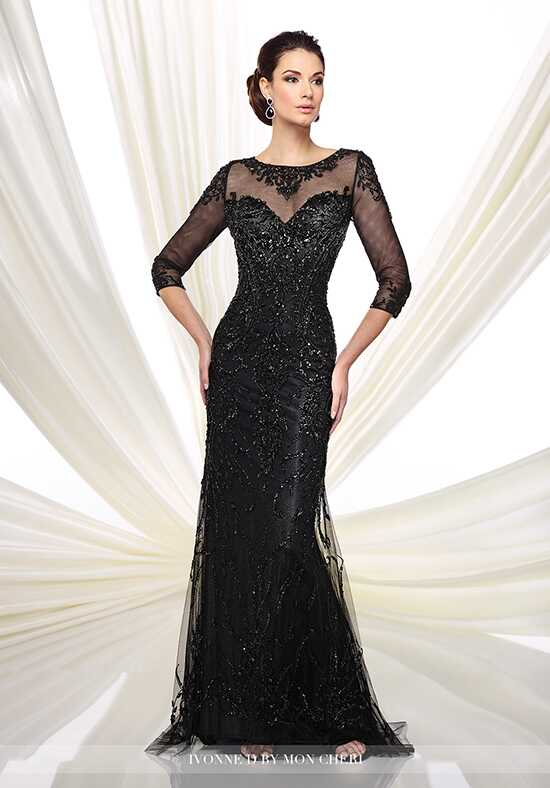Ivonne D. 216D42 Black Mother Of The Bride Dress