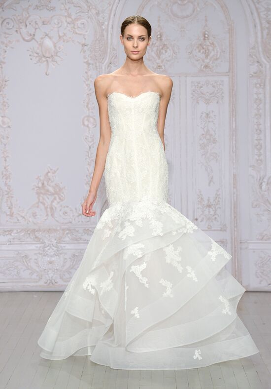 Monique Lhuillier Saffron Mermaid Wedding Dress