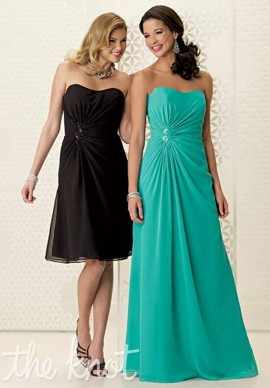 Jordan 949 Strapless Bridesmaid Dress