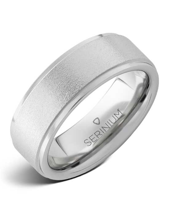 Serinium® Collection Stonepiper — Stone Finish Serinium® Ring-RMSA002469 Serinium® Wedding Ring