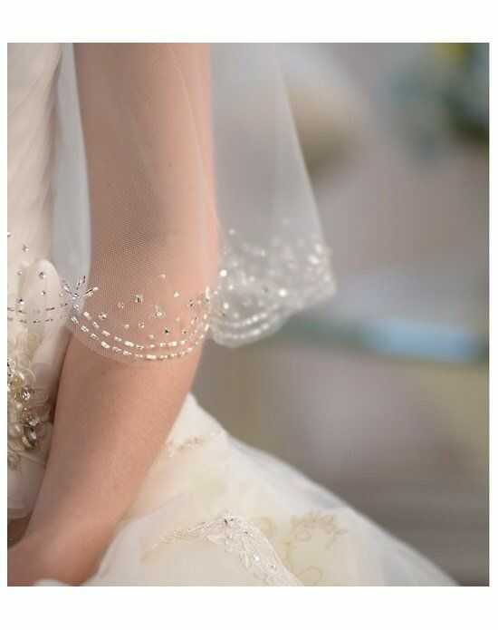 USABride 1-Layer, Bliss Beaded Edge Veil VB-5021 Ivory Veil