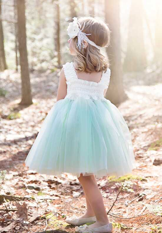 FATTIEPIE Mint Ivory Flower Girl Dress