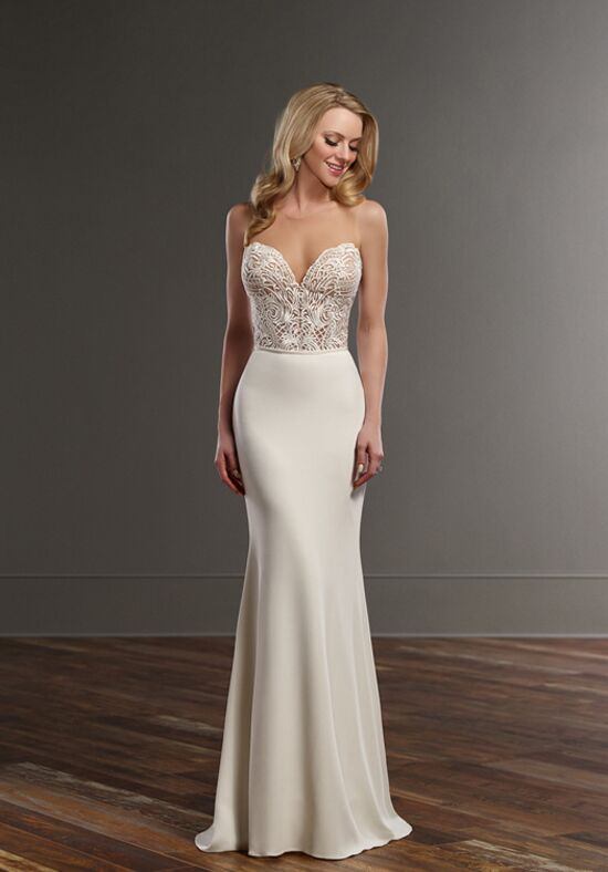 Martina Liana Bryce+Sanja Sheath Wedding Dress