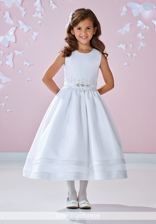 Joan Calabrese by Mon Cheri 117361 Ivory Flower Girl Dress