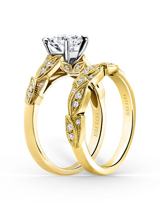 Kirk Kara Dahlia Collection K156Y-B Gold Wedding Ring